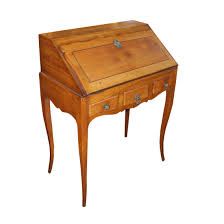 Antique Secretary Desk With Bookcase by 19th Century French Provincial Fruitwood Ladies Secretary Desk