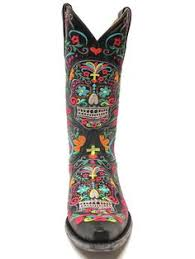 womens boots or dead cowboy boots with skulls on them boots womens tooled