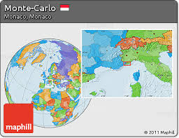 monte carlo map free political location map of monte carlo