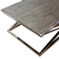 Chrome Furniture Legs by Voltin Live Edge Coffee Table With Chrome Legs Madera Home