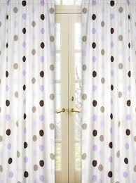 Purple Design Curtains Purple Brown Polka Dot Window Curtains Set Of 2 Drape Panels