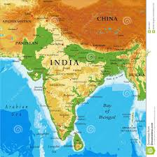 India Regions Map by India Relief Map Stock Vector Image 89143801