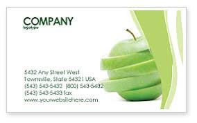 apple business card sliced green apple business card template layout sliced