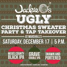 jackie o u0027s ugly christmas sweater party u0026 tap takeover cavalier