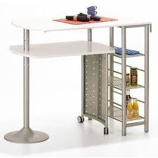 conforama table haute cuisine table bar cuisine en métal coloris blanc design conforama