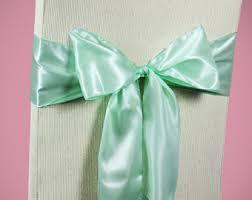 mint chair sashes mint green sash etsy