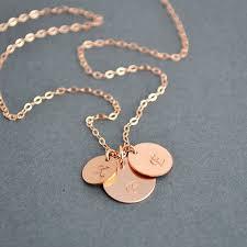three initial monogram necklace three initial monogram gold necklace best necklace 2018