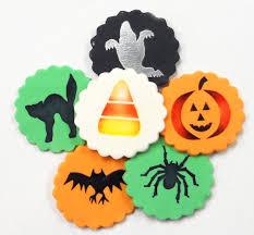 amazon com designer stencils c065 halloween cupcake and cookie