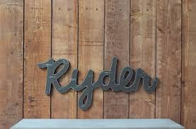 ryder baby name wooden sign rustic nursery decor baby name