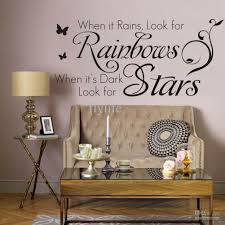 when it rains look for rainbows when it s dark look for stars when it rains look for rainbows when it s dark look for stars vinyl wall lettering stickers quotes home art decor decals