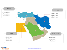 Middle East Country Map by Free Middle East Editable Map Free Powerpoint Templates