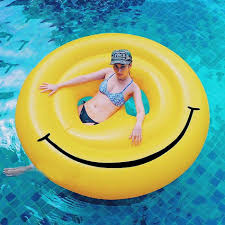 Inflatable Pool Floats by 160cm 63 Inches Giant Inflatable Smiley Pool Float Toy Inflatable