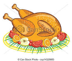 thanksgiving turkey vector food isolated on white for vector
