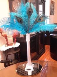 Peacock Feather Centerpieces by Eiffel Tower Ostrich Feather Centerpieces So Much Smarter Then