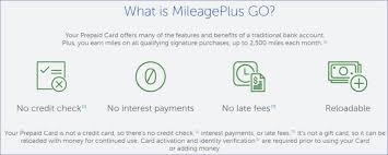 go prepaid card more details on the mileageplus go visa prepaid card