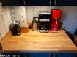is it over yet half classic six it is so nice to finally be making coffee in the kitchen again one of