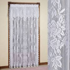 White Curtains With Green Leaves by Lace Curtains Touch Of Class