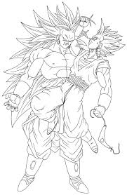 lineart 25 vegetto vs broly ii by genesislinearts on deviantart