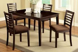 Microfiber Dining Room Chairs 4 Seat Dining Table