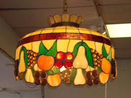 Glass Fruit Chandelier by Round Leaded Glass Fruit Motif Chandelier