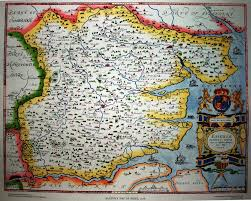 Essex England Map by Saxton 1576