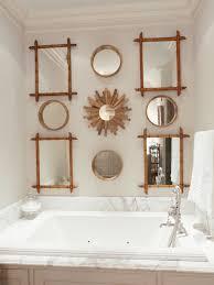 Elegant Powder Rooms Elegant Vintage Looking Bathroom With Pink Wallpaper With Unique