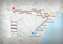 La Metro Map Pdf by Malaga Subway Map 2017