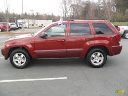 red rock crystal pearl 2007 jeep grand cherokee laredo exterior