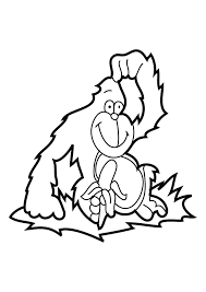 gorilla coloring pages preschool and kindergarten