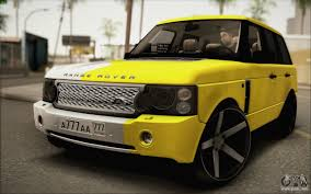 land rover yellow land rover range rover gold vossen for gta san andreas