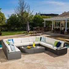 Christopher Knight Home Santa Cruz Outdoor Piece Brown Wicker - Wicker sofa sets