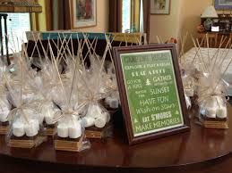 smores wedding favors s mores party favors set up at the bridal shower sweet 16 party