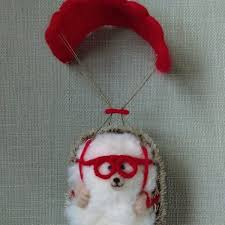 skydive hog miniature needlefelt hedgehog conscious crafties