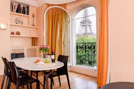Eiffel Tower Window Curtains by Elegant Two Bedroom Apartment Rental With Stunning Eiffel Tower View