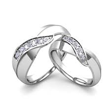 Infinity Wedding Rings by Accent Sterling Silver Two Tone Infinity Ring Infinity Rings