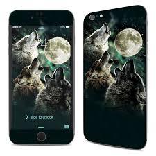 apple iphone 6 plus skin three wolf moon by antonia neshev