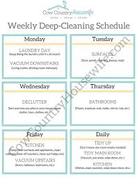 deep clean with 1 chore a day free printable free printable