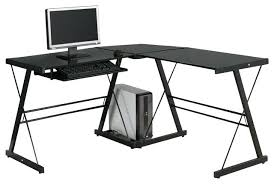 Black Tempered Glass Computer Desk Black Glass Corner Desk Image Of Black Glass Corner Desk Black