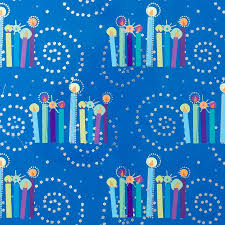 hanukkah wrapping paper chanukah candles roll wrap hanukkah