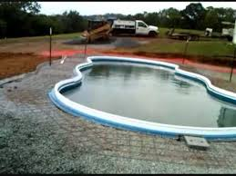 new 16x40 freeform fiberglass pool by leisure pools youtube