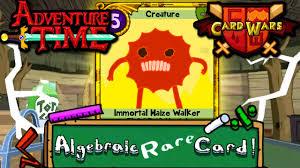 wars cards card wars adventure time gold immortal maize walker episode 32