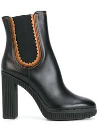 womens leather boots sale nz best sale tods boots sale tods platform ankle boots in black