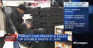 target black friday news black friday draws crowds and full carts
