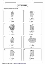 cup pint quart gallon worksheet measurement conversions and line plots tools lessons tes teach