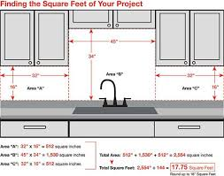 how to measure for kitchen backsplash how to determine square