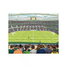 Football Wall Murals by Walltastic Football Crazy Wall Mural 2 44m X 3 05m