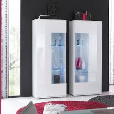 vitrine weiß hochglanz glas vitrinenschrank hochschrank wohnzimmer