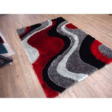 Red Area Rug by Area Rugs 5x7 Grey Gray Shag Rug On Wooden Floor Shaggy Gray