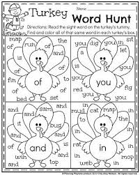 number names worksheets turkey activities for kindergarten free