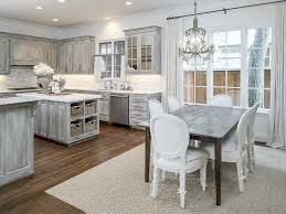 Distressed Kitchen Cabinets Gray Distressed Kitchen Cabinets With Danby Marble Countertops